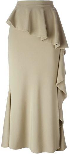 Givenchy long ruffled skirt