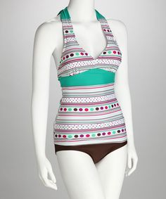 I love this swimsuit top, both the style and the print!