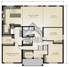 Zenith house has an entrance hall with nearly 12 ' height! Buy your dream house at a rent price. Prefab Homes, Modular Homes, Home Design Plans, Plan Design, Timber Frame Homes, Best House Plans, Sims House, Home Pictures, Home Reno