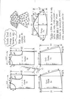 Vestido evasê com manga sino - - Euflazia Paiva - T Shirt Sewing Pattern, Pattern Drafting, Dress Sewing Patterns, Clothing Patterns, Sewing Lessons, Sewing Hacks, Sewing Projects, Sewing Clothes Women, Diy Clothes