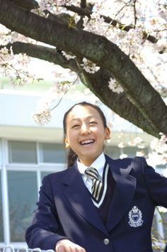 Mao Smile at High school entrance ceremony