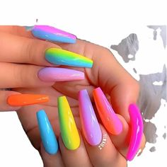 PRODUCT DETAILS: Multipurpose powder - an array of vibrant neon colors. This cannot glow in the dark. Ideal for ombre nails, design nails, art craft... Can be used with dip powder, acrylic powder, gel, builder gel... Safe & high quality finest neon powders Neon Acrylic Nails, Acrylic Nails Coffin Short, Neon Nails, Coffin Nails, Neon Nail Designs, Rainbow Nail Art Designs, Acrylic Nail Designs, Nails Design, Rainbow Nails