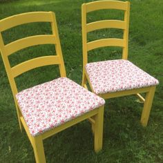 Distressed chalk paint ladder back chairs
