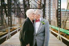 Elderly Couple's Dream Wedding Photos Come 61 Years After They Married