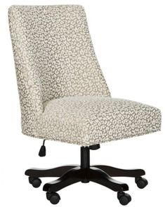 18 Modern Farmhouse Office Chairs for Your Workspace - Finding Sea Turtles Swivel Office Chair, Home Office Chairs, Home Office Furniture, Office Decor, Grey Furniture, Furniture Chairs, Furniture Outlet, Upholstered Chairs, Online Furniture