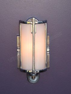 Vintage Bathroom Lighting | Antique Mid 30s Chrome Vintage Bathroom Light Fixture