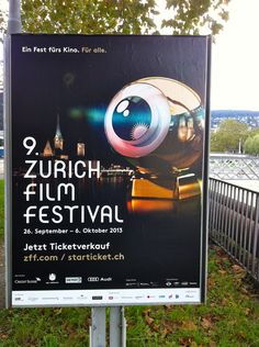 Poster for a film festival in Zurich, Switzerland. #swiss #graphicdesign
