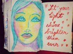 When you choose light instead Medium Blog, Medium Art, Art With Meaning, Let Your Light Shine, Texture Art, Junk Journal, Love Art, Mixed Media Art, Original Art