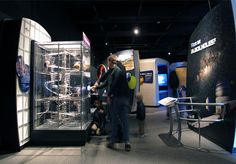 1. exhibit that has a glass case to protect objects 2. John Kennedy Associates 3. http://jkainc.com/projects/science/astronomy-and-space/black-holes-space-warps-time-twists/ 4. This structure houses a simulation of what gravity does in a black hole using marbles