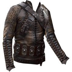 King Cenred Tunic ❤ liked on Polyvore featuring tops, tunics, medieval, jackets, men and armor