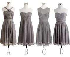 Grey Bridesmaid Dress Grey Chiffon Bridesmaid by harsuccthing, $89.00 - Turquiose or Coral or Pink