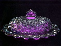 Cobalt Glass, Purple Glass, Purple Gun, Fenton Glass, Glass Ceramic, Le Creuset, Antique Glassware, All Things Purple, Glass Dishes