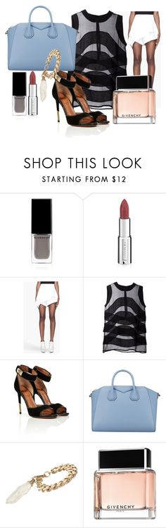 """""""OH SO GIVENCHY"""" by dualipa ❤ liked on Polyvore featuring Givenchy, top handle bags, givenchy, pastel makeup, cut-out top and cut-out heels"""