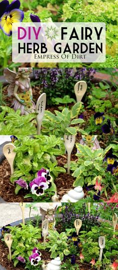 DIY Fairy herb garden | miniatures and edibles in one! | empress of dirt on #eBay