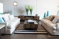 Newest trend for the living room, bright colours making the area complete.  #bright #livingroom #trends