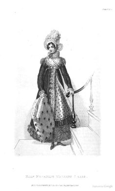 Half Mourning Walking Dress from Ackermann's Repository of the Arts January 1819