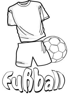 Fussballfieber und Spaß am Sport mit dem Malbild Fussball Trikot und Fussball ausmalen
