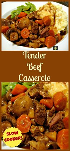 Tender Beef Casserole - Oven, Stove top or Slow Cooker, see how to make a cheap cut of beef really tender and delicious!   #Dutchoven #crockpot