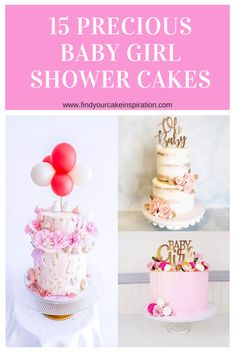 Need baby girl shower cake ideas for a loved one? Check out these 15 simple, woodland, elephant, rustic, pink with flowers cakes! Girl Shower Cake, Elephant Baby Shower Cake, Baby Shower Cakes For Boys, Baby Shower Desserts, Gorgeous Cakes, Amazing Cakes, Butterfly Cakes, Butterfly Table, Pearl Baby Shower