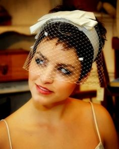 Not my favorite headband, but at least the bride has short hair.  Her eyes look great.