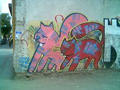 Graffiti de gatos - Santiago Chile