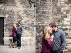 Milwaukee Third ward engagement session Wisconsin Photographers #fall #marriedinmilwaukee #engagement #riverwalk