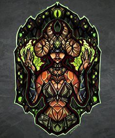 Stained Glass Infernal Seris by TheStarBear