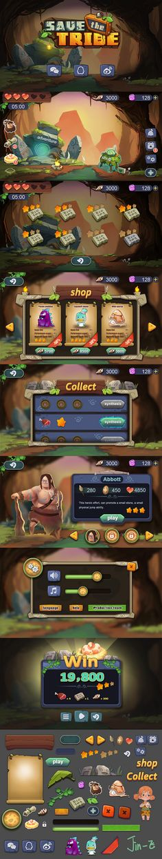 原创作品:拯救部落——手机游戏界面设计 ...