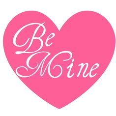 http://wordplay.hubpages.com/hub/free-valentine-clip-art-Be Mine pink heart Valentine clip art