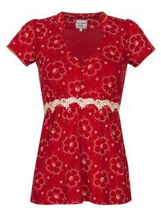 Summer Garden Shirt - red | napo-shop.de