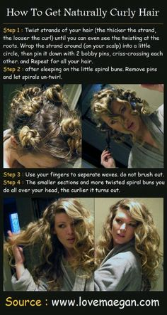 Easy curls - Must try! Just use photo, site is for stretch marks!