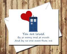Doctor Who Valentine River's quote. But it's actually a really sad moment in the show because you don't find out till after what REALLY happens Doctor Who Valentines, Sad, Store, Home Decor, Homemade Home Decor, Tent, Storage, Interior Design, Decoration Home