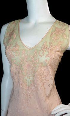 vintage 1930s silk nightgown - fine vintage lingerie