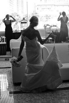 Amsale Bridal Gown at Hyde Bellagio.  #wedding #vegas #glamour