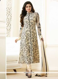 Shop Royalvilla White Digitally Printed Georgette Salwar Suit With Dupatta by Royalvilla online. Largest collection of Latest Salwar Suits online. Latest Salwar Suits, Latest Salwar Suit Designs, Salwar Designs, Blouse Designs, Pakistani Dresses, Indian Dresses, Pakistani Clothing, Pakistani Suits, Punjabi Suits