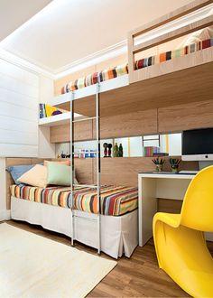 Bunk Beds Adjust, People Do Not. – Bunk Beds for Kids Girls Bedroom, Bedroom Decor, Bedrooms, Bunk Bed With Desk, Modern Bunk Beds, Kids Bunk Beds, Kids Room Design, Dream Rooms, Small Rooms