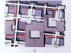 Peter Eisenman Checkpoint Charlie project (IBA) plan, Berlin (1980)