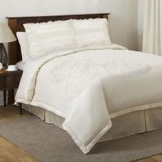 Shop for Lush Decor La Sposa Ivory King/Cal King-size Comforter Set. Get free delivery On EVERYTHING* Overstock - Your Online Fashion Bedding Store! Queen Size Comforter Sets, King Size Comforters, Bed Comforter Sets, Ivory Bedding, Neutral Bedding, Master Bedroom Redo, Bedroom Décor, Bedroom Ideas, Cal King Size