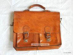 Alte Schultasche Aktentasche Lehrertasche Tasche Schulranzen Leder Accessoires Bild