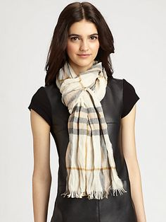 Burberry - Giant Check Crinkled Scarf - Saks.com    Gimme gimme gimme.