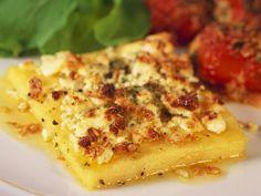 Polentaschnitten mit Feta   Zeit: 40 Min.   http://eatsmarter.de/rezepte/polentaschnitten-mit-feta