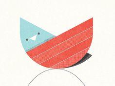 Dribbble - Bird 1 by Nate Luetkehans