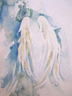 Original Watercolor Peaceful Wings by KLHartwork on Etsy, $40.00