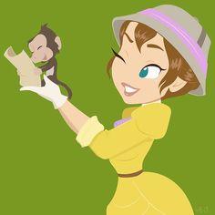 Jane (Tarzan) Art by The Art of Hollie Ballard Disney Jane, Walt Disney, Disney Marvel, Cute Disney, Disney Girls, Disney Magic, Disney And Dreamworks, Disney Pixar, Disney And More