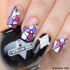 Hand Painted Nail Design #NailArt by #YaGala from #NailArtGallery #NailsMag♥•♥•♥