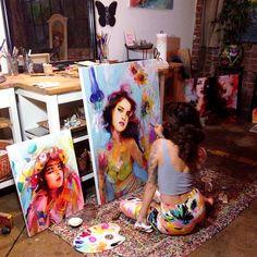 charmaineolivia:  we're colorful tonight  Charmaine Olivia
