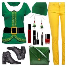 Buddy The Elf by deborah-calton on Polyvore featuring polyvore, fashion, style, River Island, Yves Saint Laurent, Hermès, NYX, Givenchy, L'Oréal Paris, Chanel and clothing