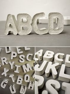 DIY Cement Alphabet - Awesome