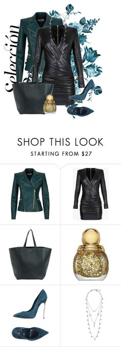 """""""gangstergirl"""" by kiera-van-witte ❤ liked on Polyvore featuring Balmain, Christian Dior, Casadei and Lucky Brand"""