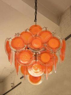 Orange Murano Glass Chandelier
